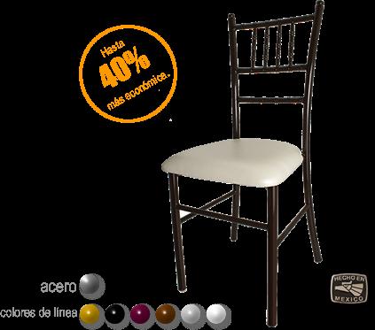Silla chiavari premier sillas y mesas sillas for Precios de muebles para restaurantes
